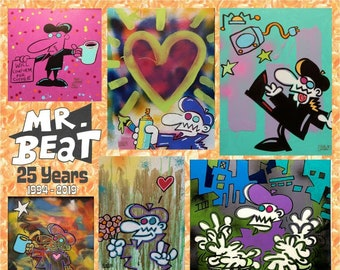 """11'x14"""" Mr. Beat 25th Anniversary Print Chris Yambar Limited Edition Signed Numbered"""
