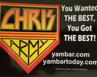 """Chris Army Stickers 4"""" x 3"""" all weather stickers"""