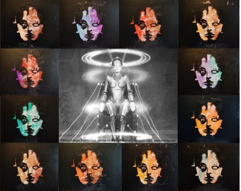 """Metropolis Print from Chris Yambar's Shivers Exhibition Opening Reception - 11""""x 14"""" Unsigned"""
