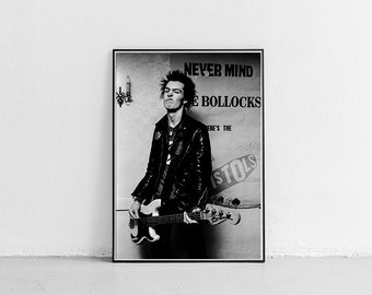 Sid Vicious punk wall art stencil,Strong,Reusable,Recyclable