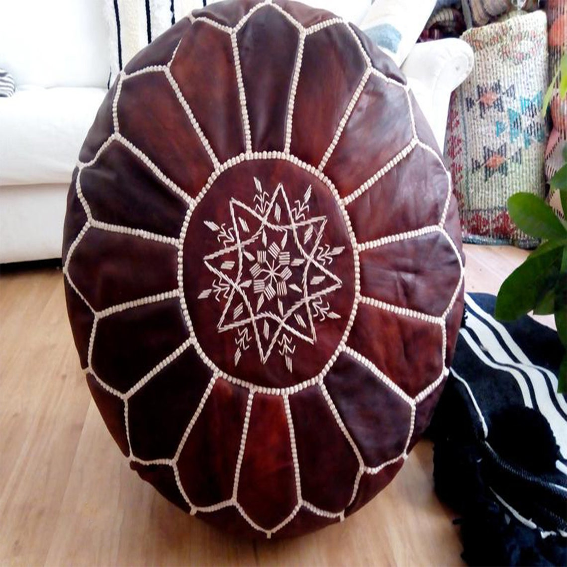 50% OFF, Moroccan pouf, outdoor furniture, ottoman pouffe, Moroccan leather, leather poufs, Living room, wedding, vintage, moroccan pouffe