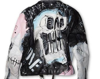 de1883b9cec3a Lil Peep inspired leather jackets  made to order