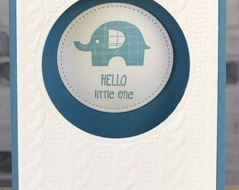 Cable Knit Elephant Card