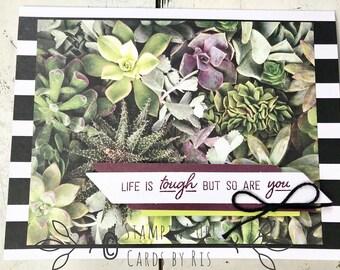 Succulent Encouragement Card