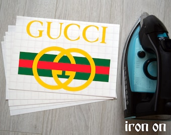 a4ee9155257 Gucci Iron On T-Shirt Transfers Personalised Your Image Photo Design Hen  Stag Nights Stickers Fancy Dress
