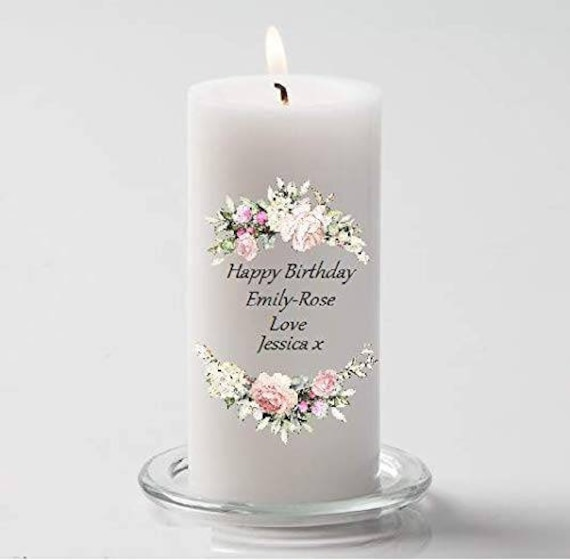 Congratulations 50th Birthday candle Personalised Poison #8