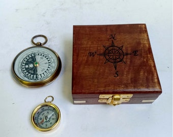 Antique Nautical Collectible Pocket Compass Vintage Marine Maritime Compass 50% OFF Maritime Compasses