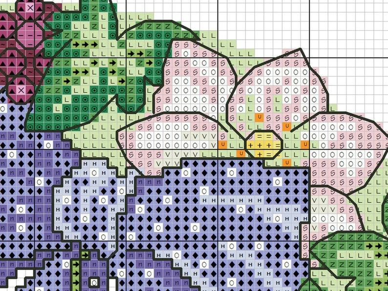 Flower Cross stitch Pattern Personalised Cross stitch Pattern Cute Cross-stitch Novelty Winter Easy PDF Home Decor Housewarming Gift