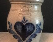 Rowe Pottery Handmade Stoneware pot 1987 Vintage 80s