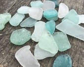 22 pieces large and thick sea glass Frosted Colorful sea glass in Craft quality Size quot 1.4-2.6 quot wedding decoartion, place cards (i22)