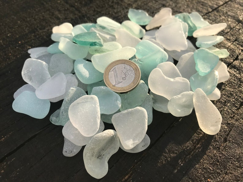 i22 collection Bulk light colored sea glass pieces  Craft quality Size1.1-1.9# wedding decoration place cards guests cards