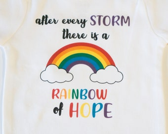 Baby Shower Gift Personalised Rainbow Baby Vest//Bodysuit,Rainbow Cloud Clothes