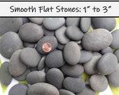 100 LARGE Smooth Beach Stones, Rocks for Painting, River Rocks, Black, Flat, Oval, Wishing Stones, Wedding Stones, Beach Pebbles, Craft, Zen