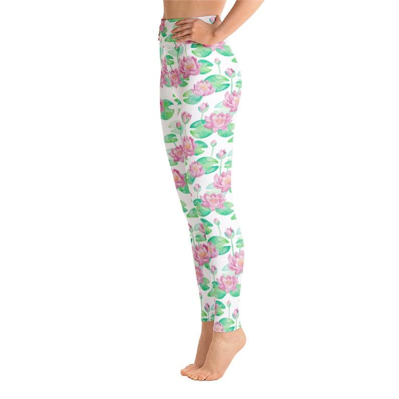 Activewear leggings Yoga Leggings Lotus Flower Leggings High waisted leggings Gym Leggings