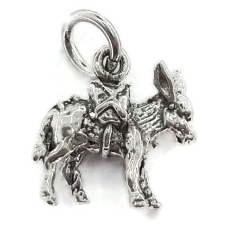 Donkey Charm Pendant .925 Sterling Silver