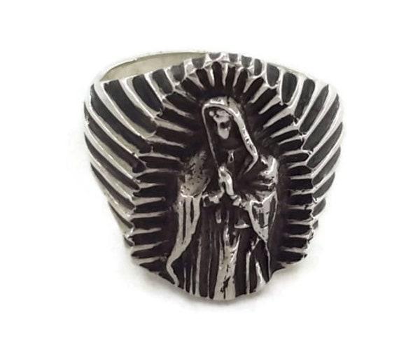 Virgen de Guadalupe .925 Sterling Silver Ring!! Virgin Mary