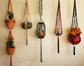 Macrame plant hangers, patio decor, double macrame wall planter, wall hangings plant holder, ceiling plant holder, indoor outdoor knot art
