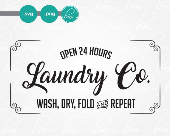 Svg Laundry Room Sign Laundry Svg Laundry Co Sign Rustic Etsy
