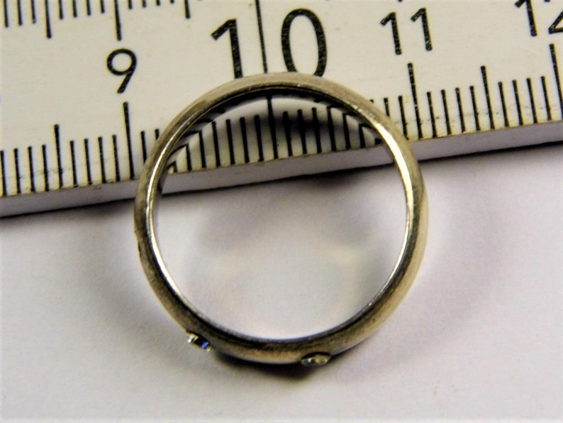Old vintage Sterling Silver 925 ring with stones retro authentic women/'s jewelry 146s
