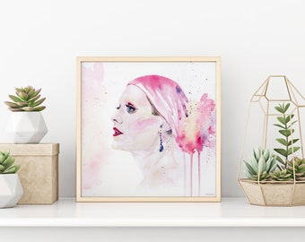 Jared Leto // Rayon Watercolor Portrait High Quality Print Kunstdruck Poster - Fanart Dallas Buyers Club - Movie