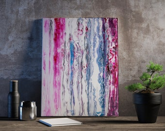 Abstrakte Malerei Leinwand Acryl modern bunte Kunst