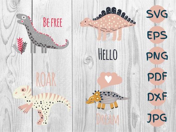 Cute Dinosaurs Bundle Svg Cute Dino Svg Dinosaur Clipart Etsy