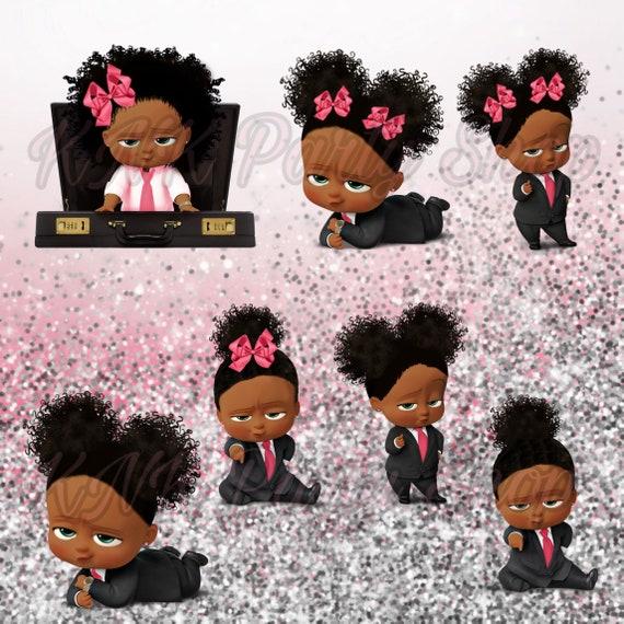 African American Sassy Boss Baby Girl Light Skin