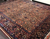 Antique Persian Lilihan Room Size Wool Rug 8 6 x 11 1