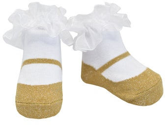 BABY GIRLS BLING ANGEL WINGS SOCKS//HEADBAND SET 0-6 MONTHS