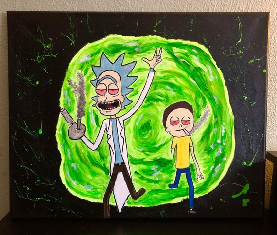 Rick And Morty Stoner Portal Etsy
