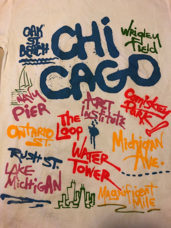 Vintage Chicago tourist T-shirt