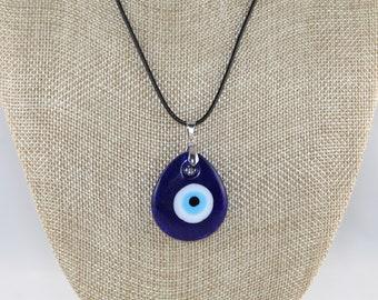 Turkey Kabbalah Glass Evil Eye Pendant Necklace, Good luck, Evil Eye Necklace, Evil Eye Charm Necklace, Daily wear, Layering, gift for her