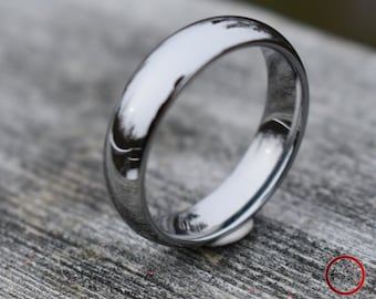 Tungsten Classic Silver Ring, Mens Ring, Mens Wedding Band