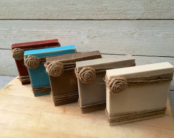 Rustic Farmhouse Wood Block Picture Frame/Farmhouse Decor/Wood Block Picture Frame/Rustic Frames