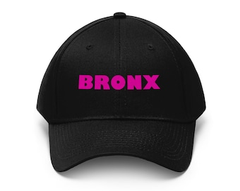 0d8c70588a2 Bronx - Pink Text Unisex Twill Hat Cap