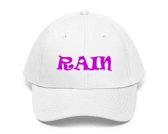 67c8ec2349a Rain In Purple - Unisex Twill Baseball Cap Hat