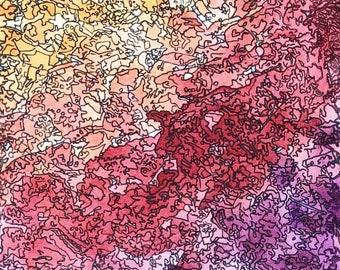 Rush | Original | Watercolor and Ink