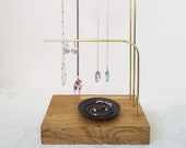 High jewelry display for chains with 3 levels elegantly simple jewelry presentation minimalist solid wood exclusive