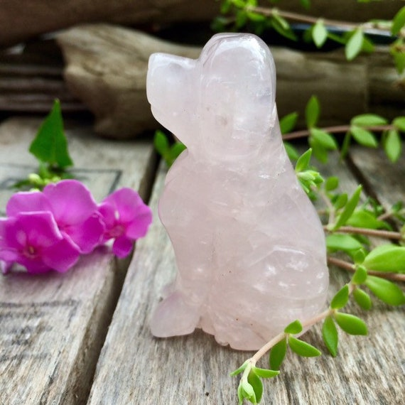 Crystal Dog Quartz Crystal,Crystal jewelry,Crystal Healing,Chakra Crystal,Gift for dog lovers Obsidian Dog 2 Inches Cute chihuahuas