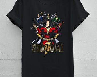 5c386f569 Shazam Family DC Comics T-Shirt, Shazam Family DC Comics Clothing Unisex  Short Sleeve Exclusive