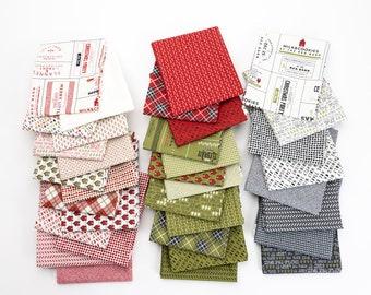Half Yard Bundle Bundle Red Barn Christmas by Sweetwater for Moda - 34 Fabrics