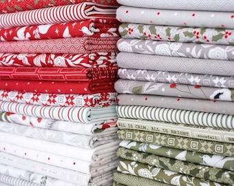 Half Yard Bundle CHRISTMAS MORNING by Lella Boutique for Moda Fabrics- 35 fabrics