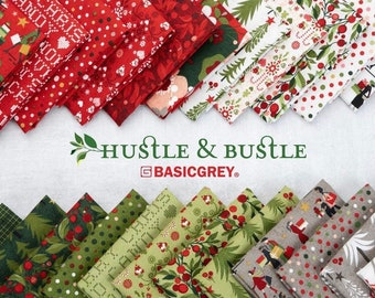 Half YArd Bundle HUSTLE & BUSTLE by Basic Grey for Moda Fabrics - 40 fabrics