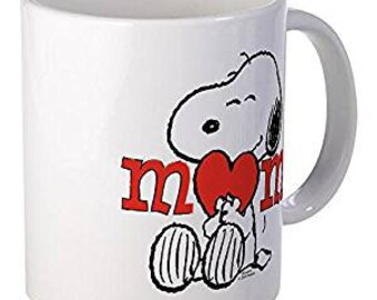 ae17fea46 CafePress - Snoopy Mom Hug Mugs - Unique Coffee Mug, Coffee Cup 11 oz mug