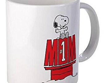 976e8bef0 CafePress - Snoopy - Mom #1 Mugs - Unique Coffee Mug, Coffee Cup 11 oz mug