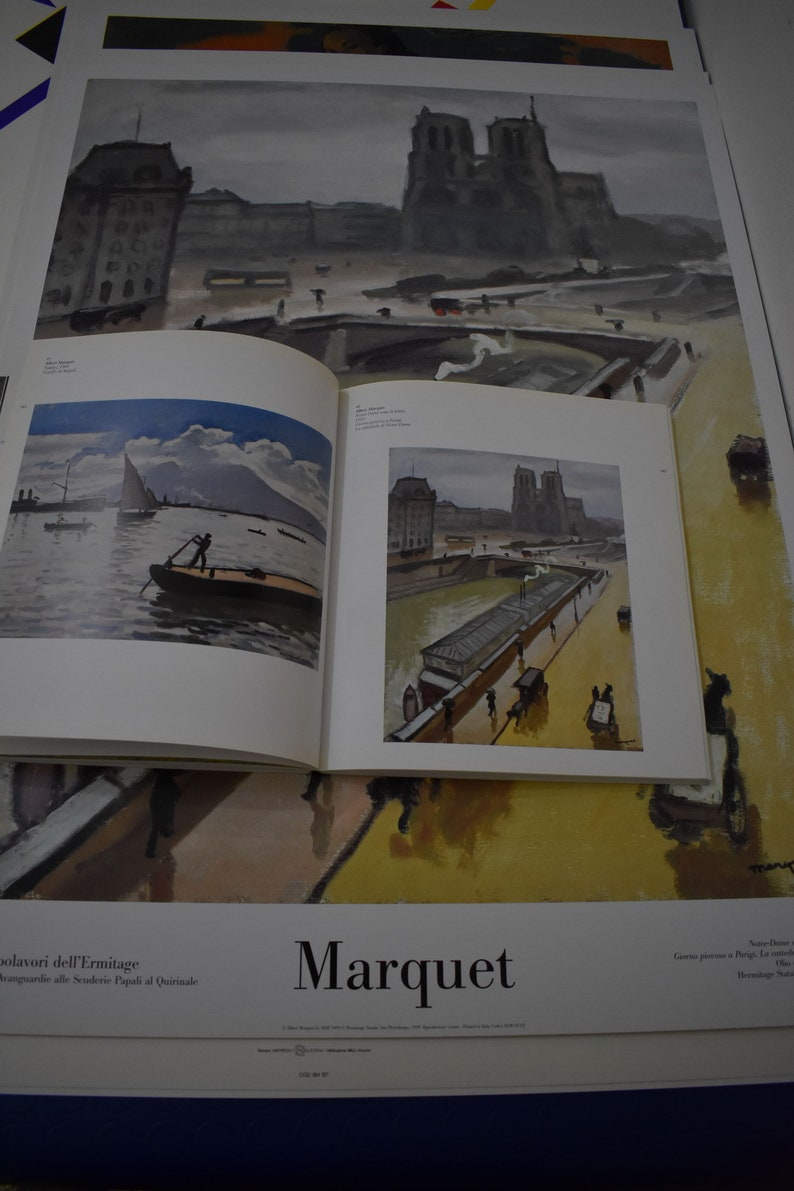 year 1999 Notre Dame in the rain The hundred masterpieces of the Ermitage ALBERT MARQUET Original vintage poster