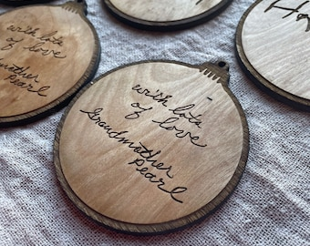 Loved One Handwriting Ornaments