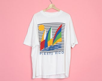 5e9bd3a9 90s Puerto Rico Sailboat T Shirt - Men's 2X | Vintage Clothing, Men's T  Shirt, Graphic Tees, Women's Clothing