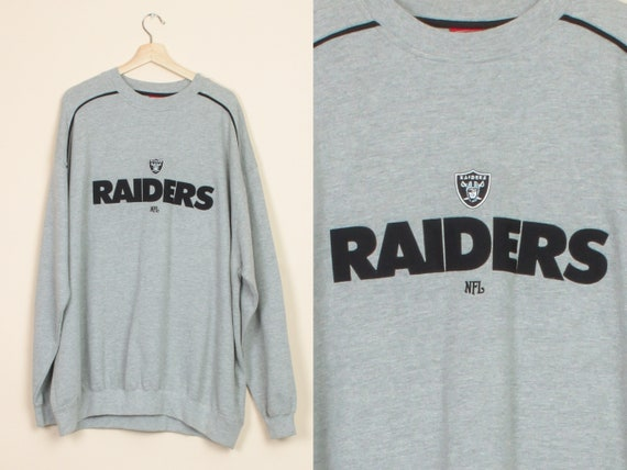 90s Raiders NFL Sweatshirt - Men's 2XL | Vintage C