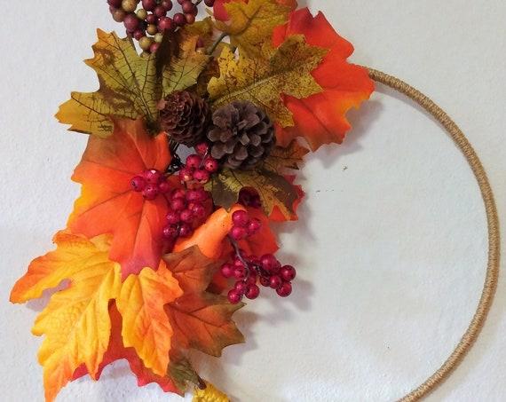 Fall Macrame Wreath, Fall Door Hanging, Hand Crafted Wreath, Fall Wall Decor, Macrame Decor, Macrame Wall Art, Fall Decor